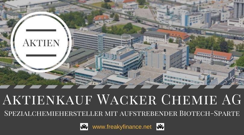 Zuwachs im Depot: Aktienkauf Wacker Chemie AG