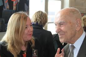 Avec Stéphane Hessel, à Trouville sur Mer en 2012