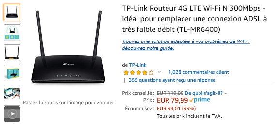 TP Link 4G LTE : 33% réduction !
