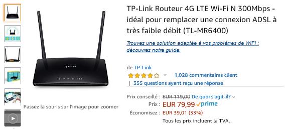 TP Link 4G LTE : 33% réduction !