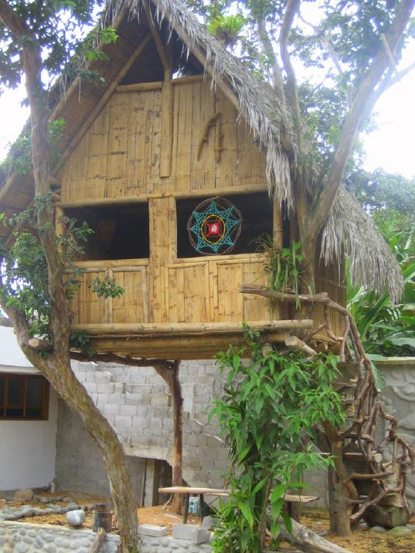 « Ecuador Mindo Bamboo house » par GreenockBeejamin — Travail personnel. Sous licence CC BY-SA 3.0 via Wikimedia Commons - https://commons.wikimedia.org/wiki/File:Ecuador_Mindo_Bamboo_house.jpg#/media/File:Ecuador_Mindo_Bamboo_house.jpg