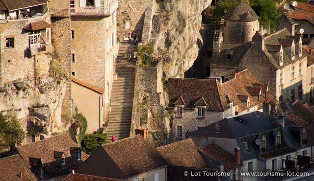 Grand escalier de Rocamadour © Lot Tourisme C. Novello