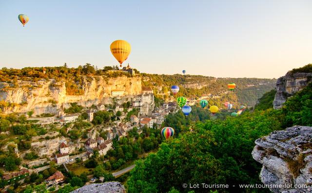 Montgolfiades à Rocamadour  © Lot Tourisme C. Novello