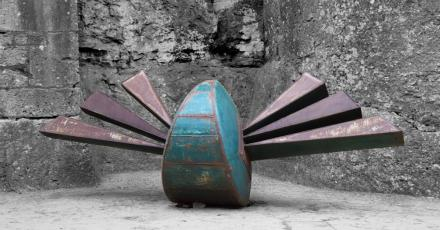 Metal sculpture by David Vanorbeek