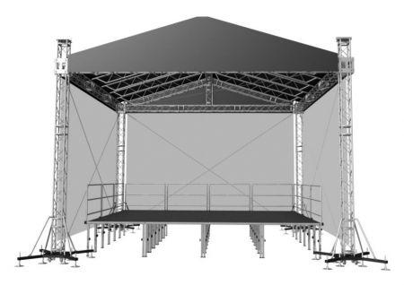 Satteldachbühne mieten Frankfurt - Konzertbühnen Stage Pro