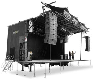 Bühne mieten Frankfurt und Bühnenbau Traversen