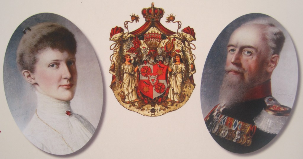 ehemaliger Hausherr Fürst Georg zu Schaumburg-Lippe mit Gemahlin