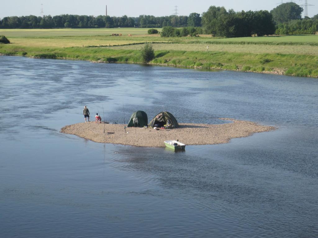 Anglerromantik inmitten der Weser
