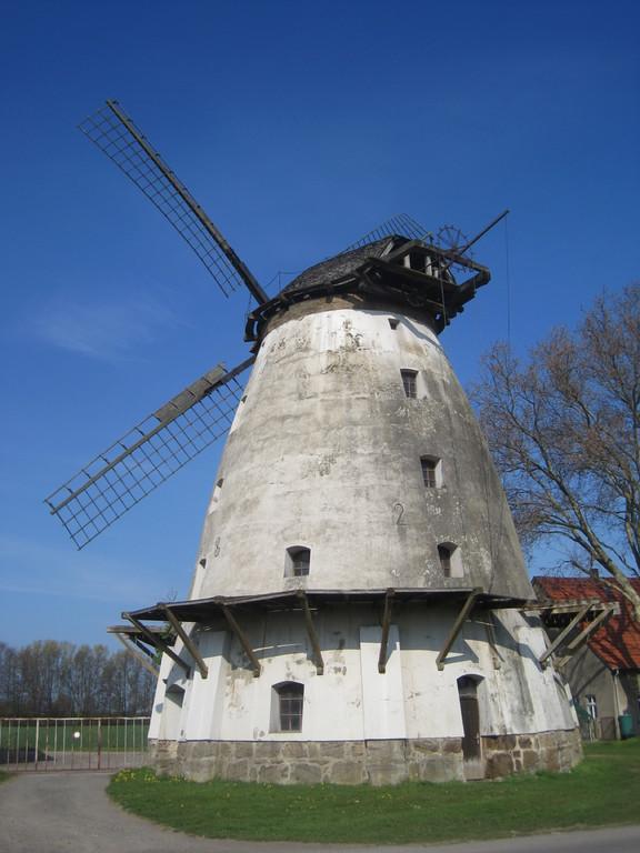 Rodenbecker Mühle, Galerie-Holländer von 1821, Haube mit kleiner Galerie
