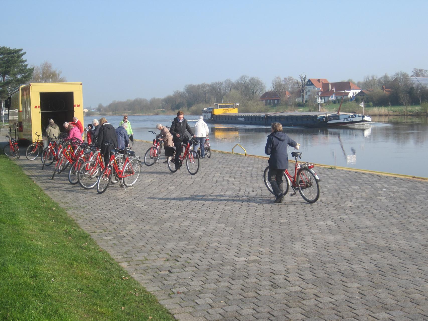 Startplatz an der Weser in Stolzenau
