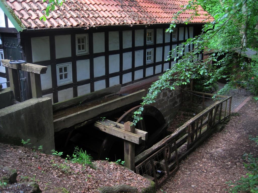 Wassermühle am Lauf des Lusbaches - erstmals 1646 genannt