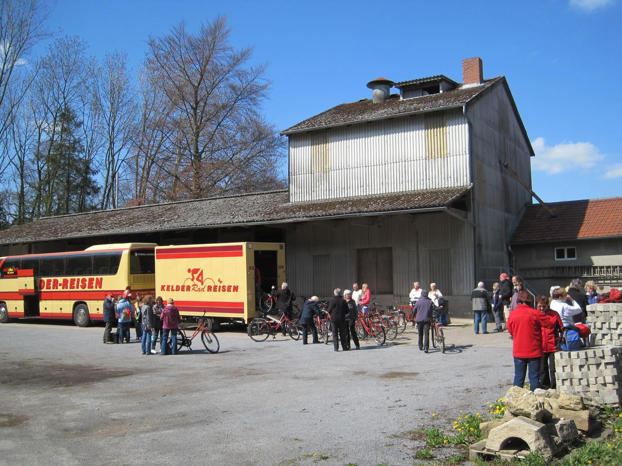 Endstation - Radverladung an der Wittlager Mühle
