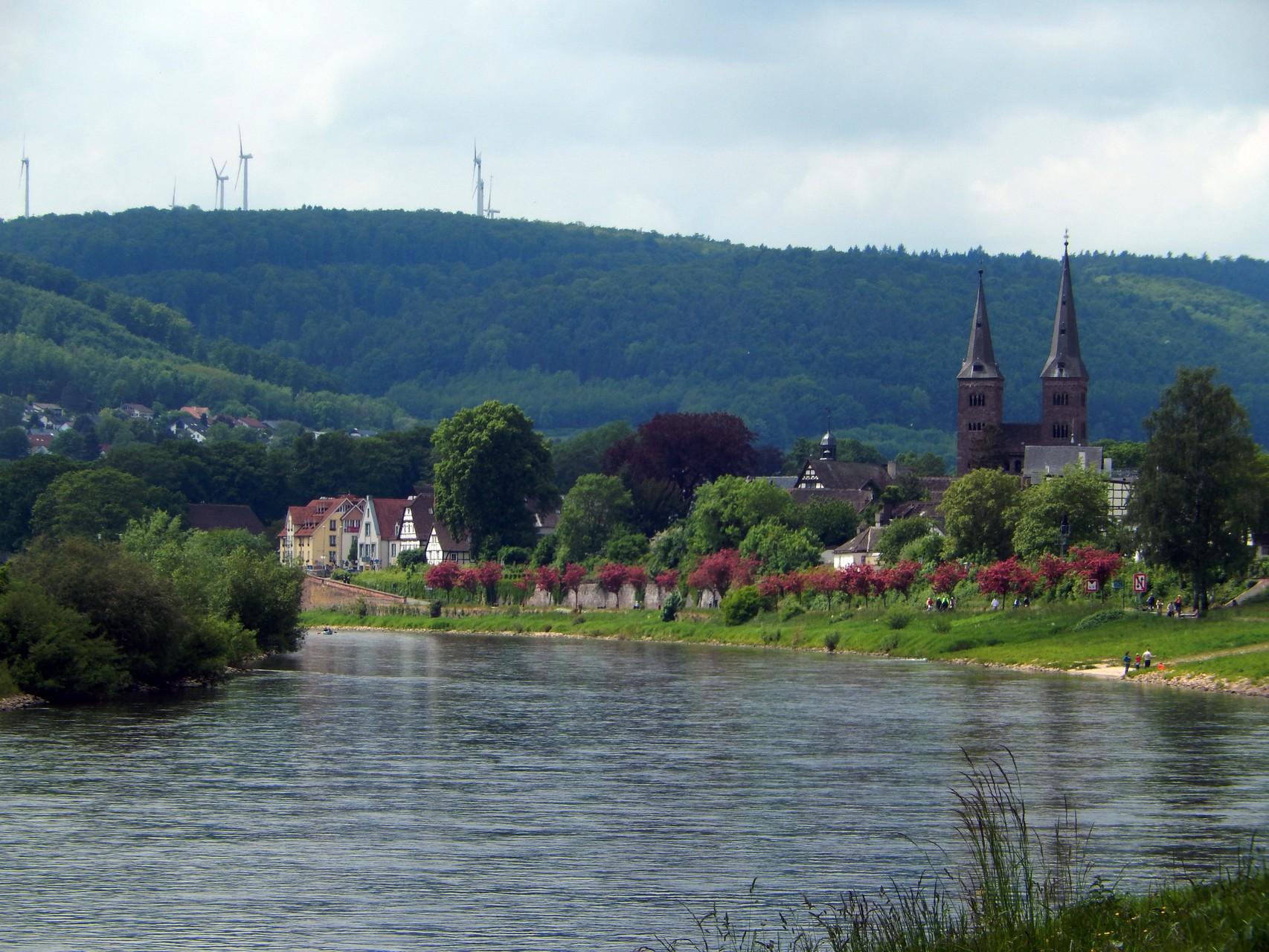Weserpromenade in Höxter