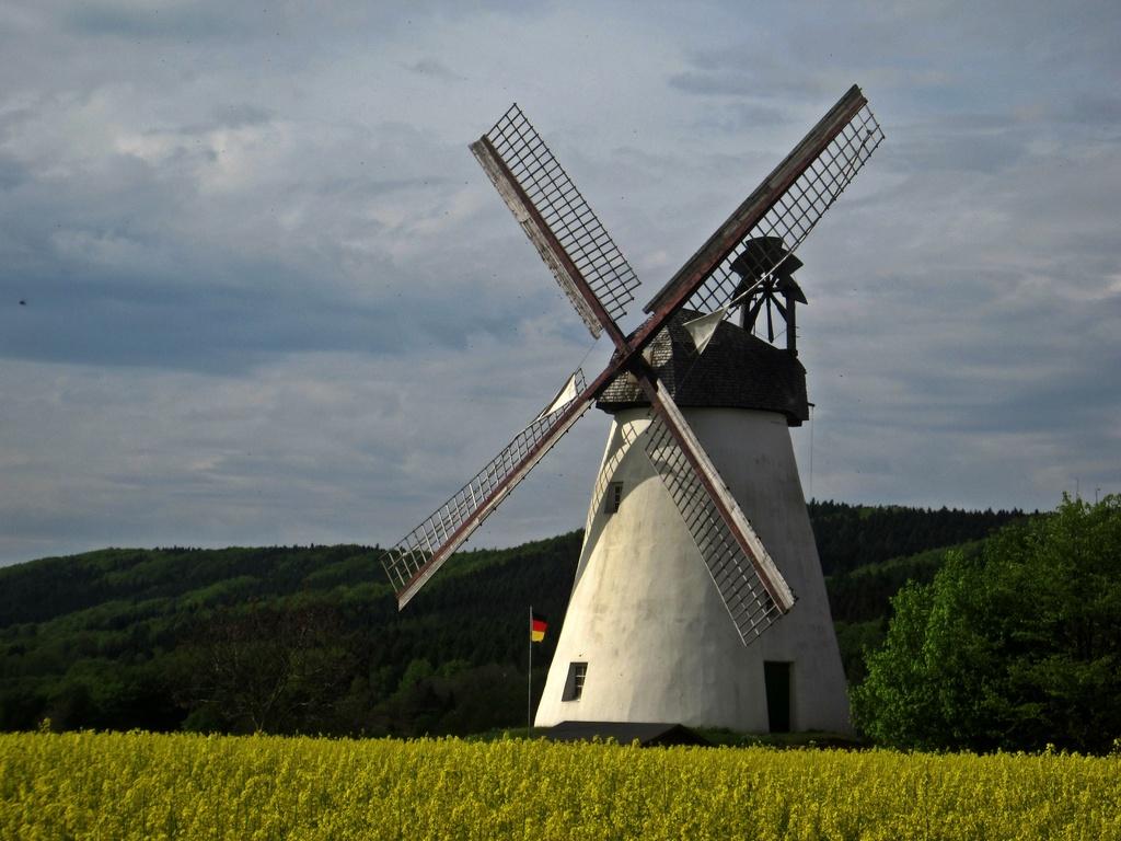Windmühle Struckhof - Wall-Holländer von 1883 in Schnathorst