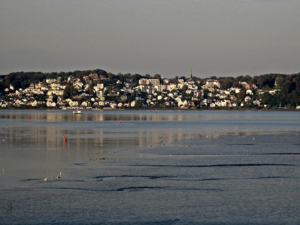 Blick über die Elbe nach Blankenese