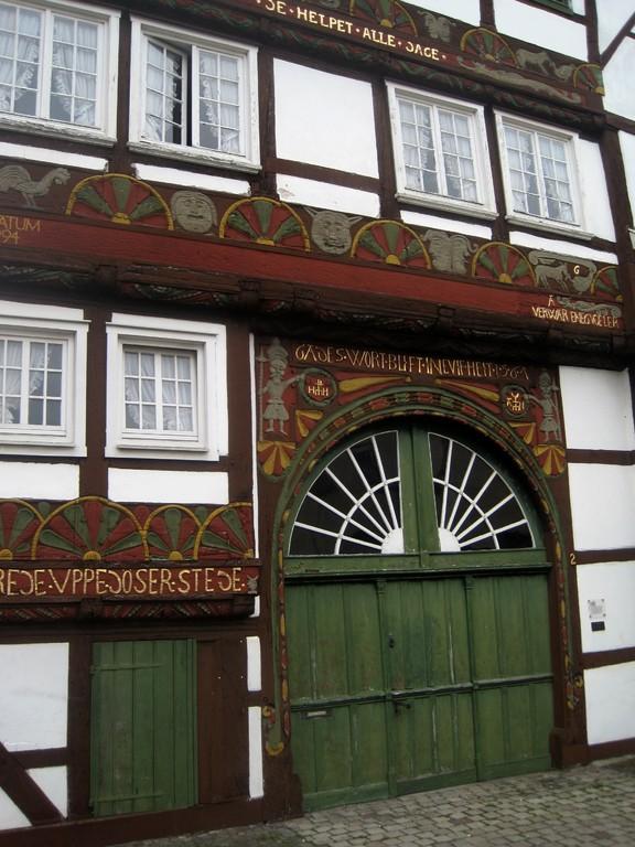 Fachwerkschnitzereien in Wiedenbrück