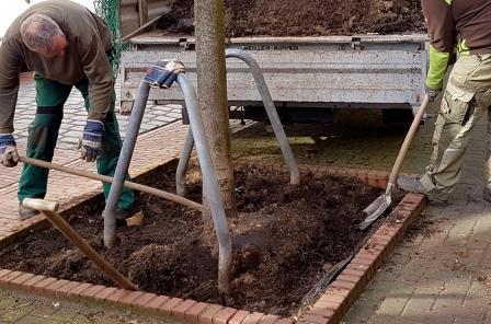 Unterstützung vom Gartenbauamt