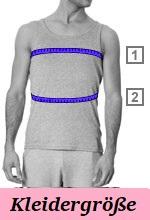 Kleidergröße ermitteln Männer