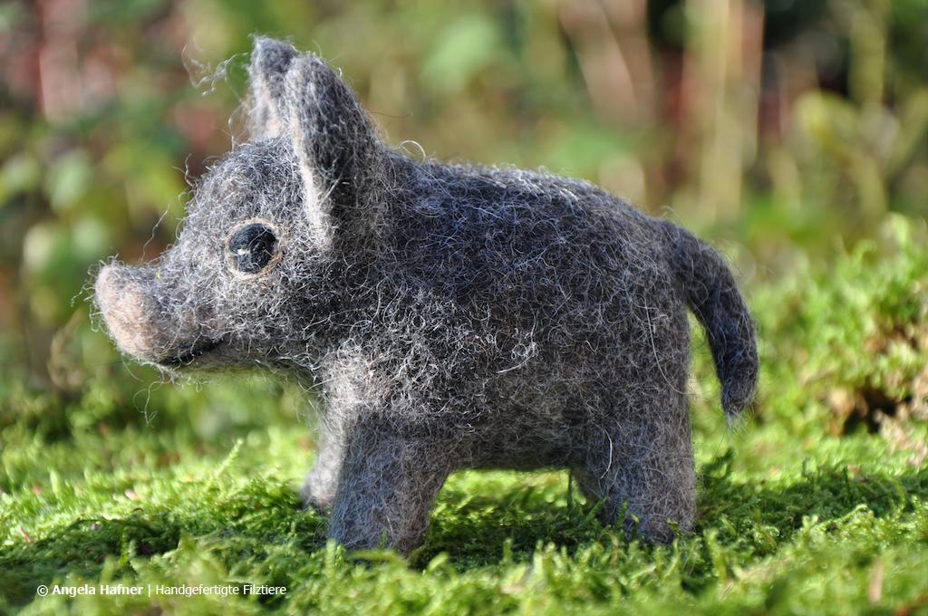 Wildschwein aus Filz