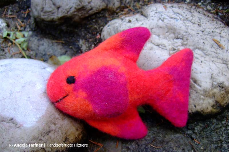 Roter Fisch aus Filz
