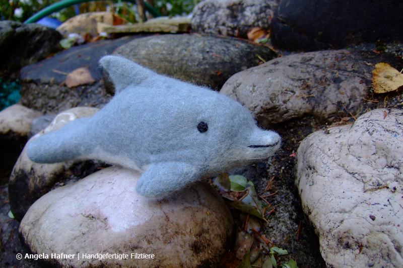 Delphin aus Filz