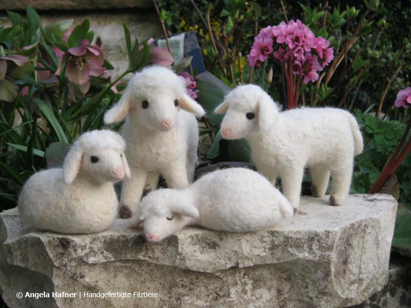 Schafe aus Filz