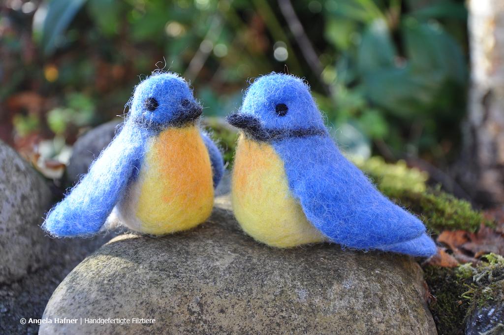 Blaumeisen aus Filz
