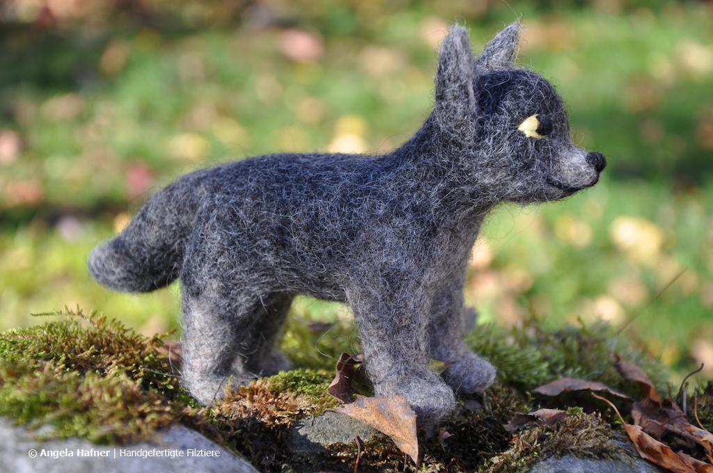 Wolf aus Filz