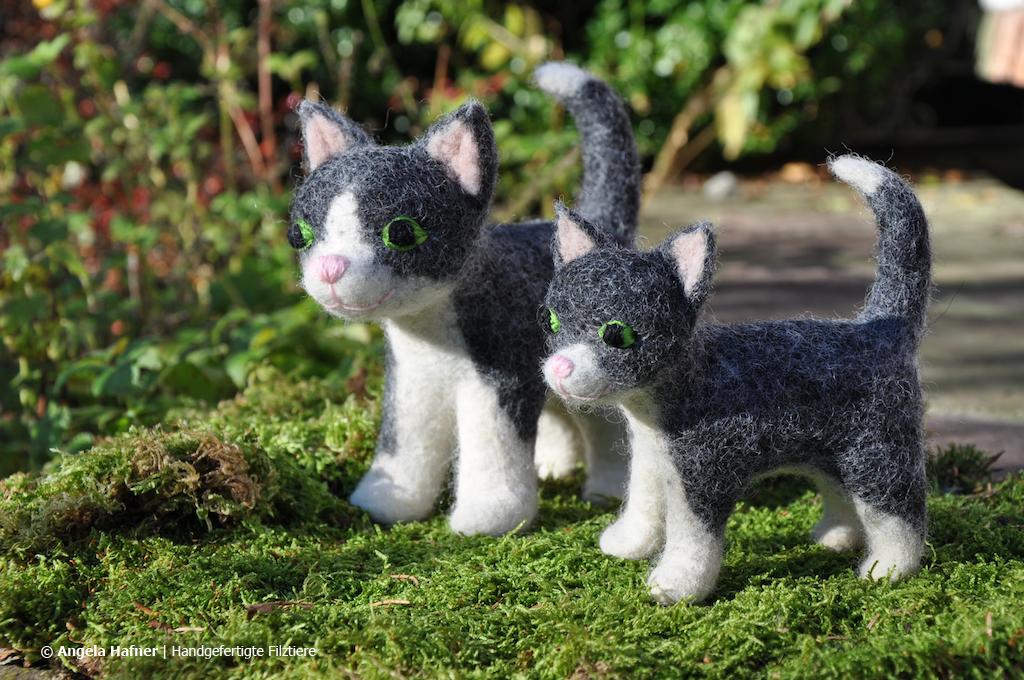 Katzen aus Filz