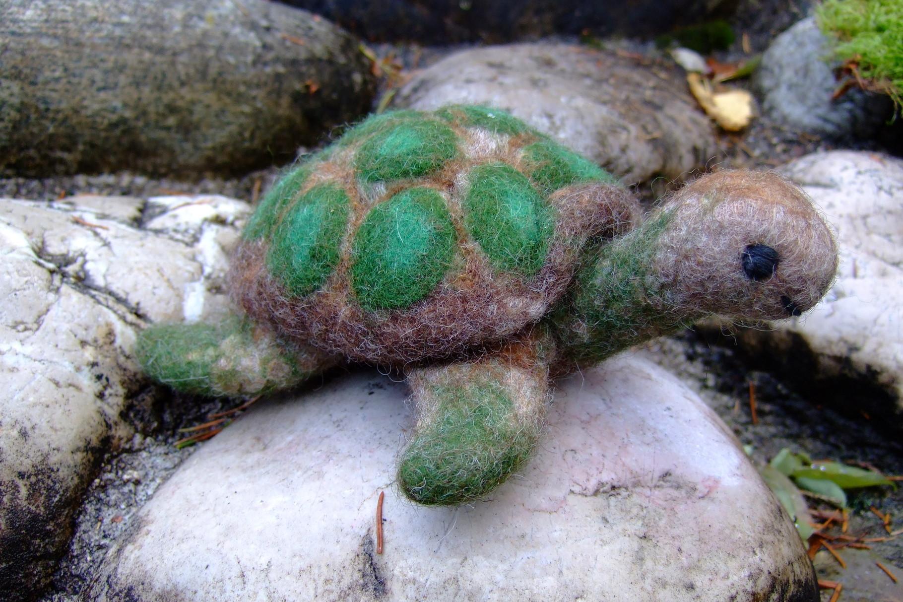 Schildkröte aus Filz