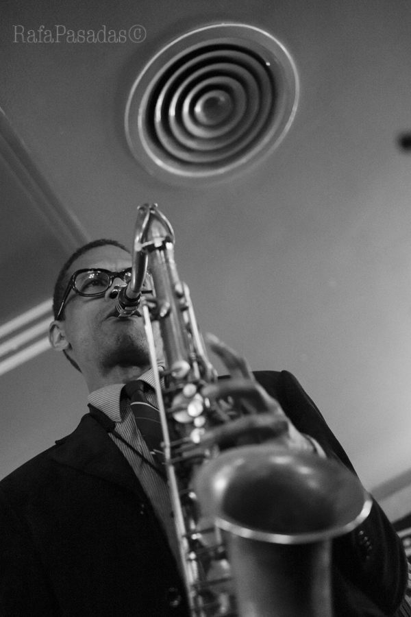 Mark Turner en el concierto de Jorge Rossy Vibes Quintet en el Dado Dadá. Santiago de Compostela. 21-05-2016
