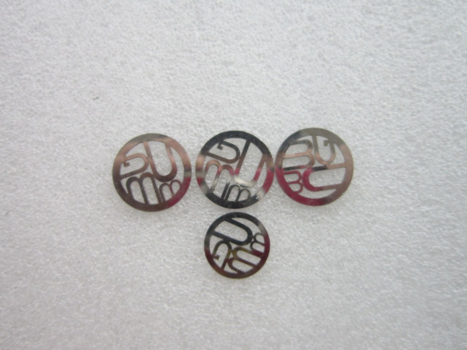 Small Brooches laser cut, Mirrored S.S.