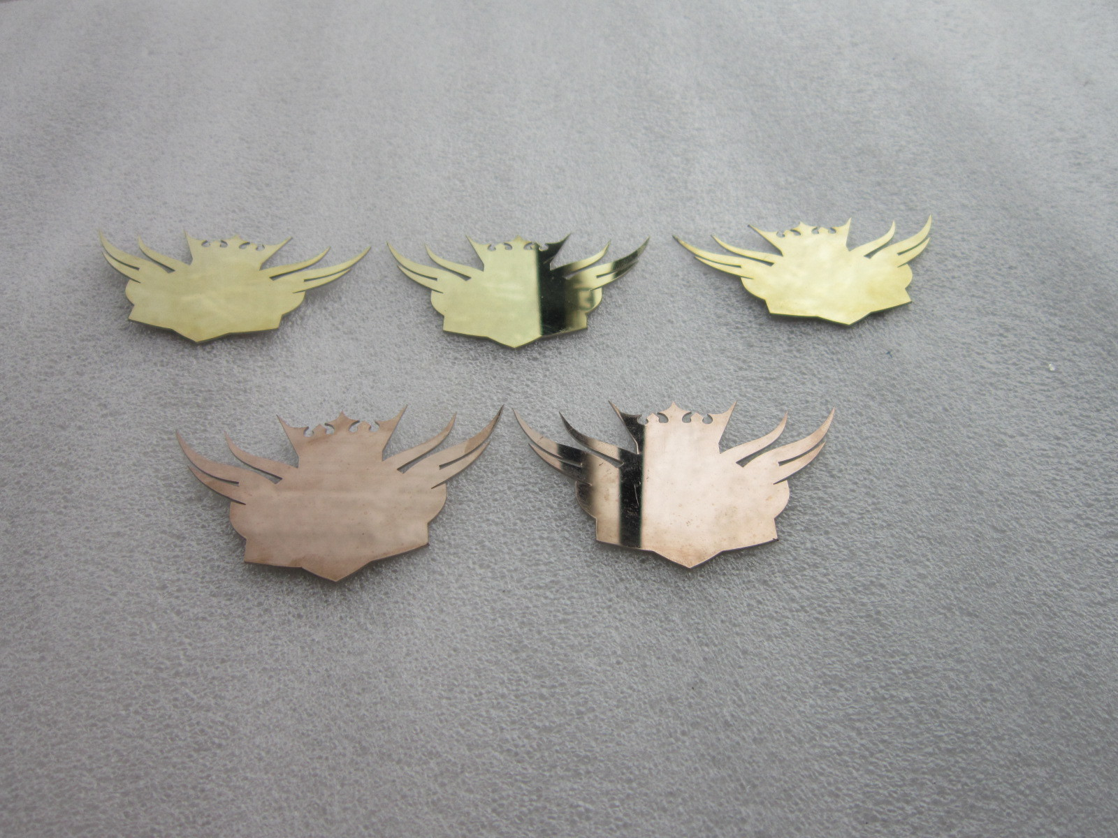 Metal decoration laser cutting in polishing surface or mirrored treatment