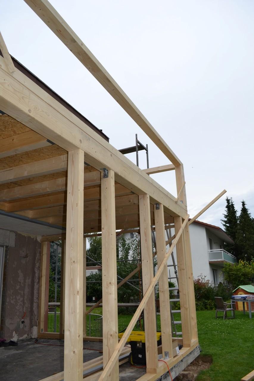 Wunderschön Holzständerbauweise Anbau Galerie Von Der Wurde Auf Die Bestehende Terrasse In