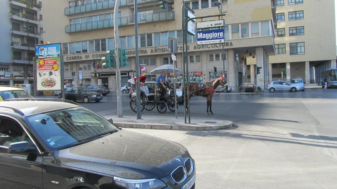 Carrozza, eine von Palermos berühmten Pferdekutschen