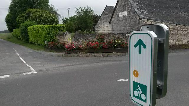 Circuit vélo balisé sur place
