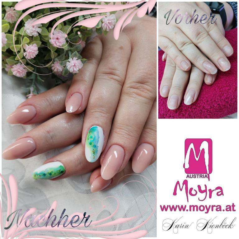 Nailart, erstellt von Karin Kienböck, mit Produkten von www.moyra.at