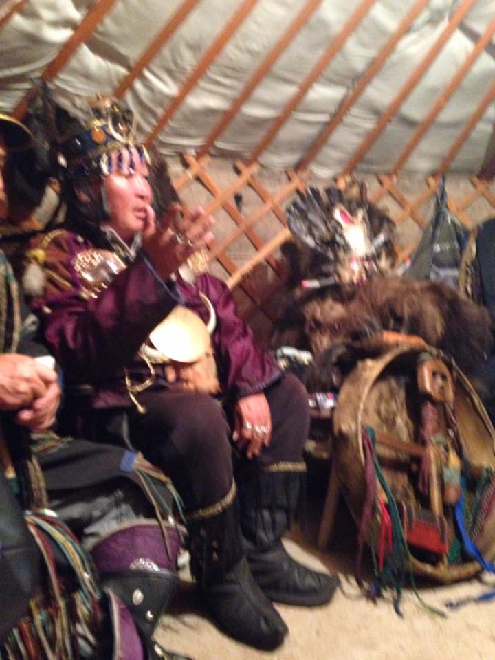 Kara-ool Tyulushevich Dopchun-ool ('Big Bear') at shamanic forum