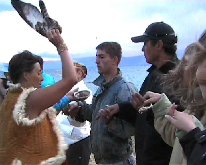 Smudging, Dance Ritual/Healing Performance at the Shaman's Conference (Olchon Island/Lake Baikal)