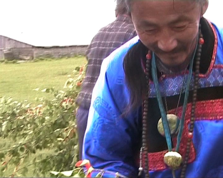 Shaman preparing for Ceremony