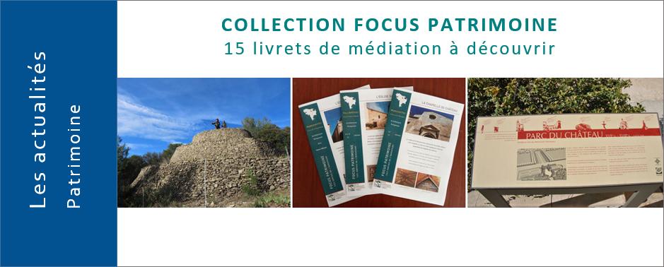 """Venez découvrir l'histoire du patrimoine """"De Garrigues en Costières"""" avec la collection FOCUS PATRIMOINE"""