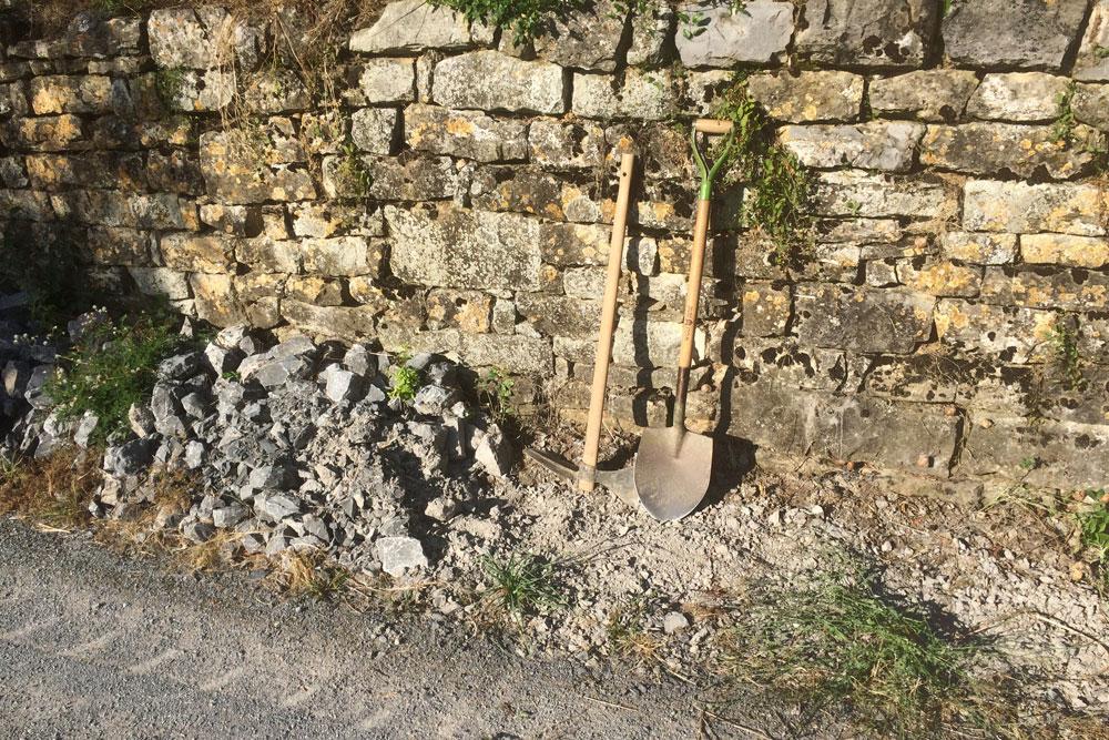Terrassenweinbau fordert Terassenbau
