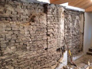 Mauerwerk vor Innenabdichtung