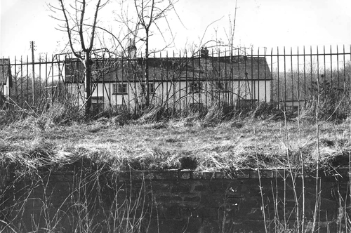 Vestiges of the Station in 1985 - railings and a section of platform