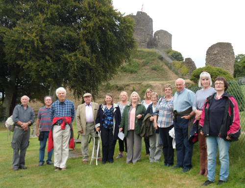 Members on the Launceston walls walk in August 2016