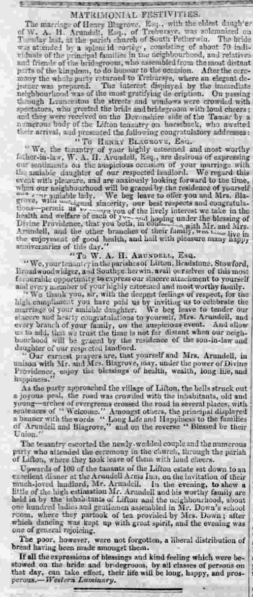 Western Times, 20/12/1845 at p.6