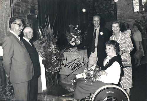 Norman and Margaret Tebbit, with Margaret Fry and, to the left, Rex Davey and Ron Worden