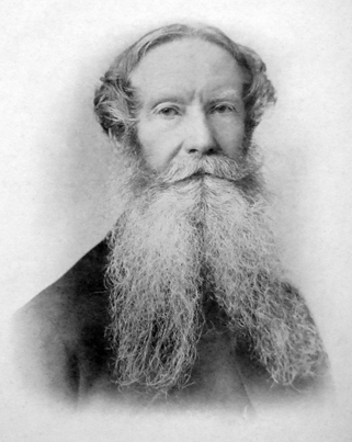 Charles Luxmoore, who built Witherdon House in the 1870s, from an 1883 photo