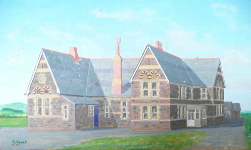 A painting of Ivyhouse School by Gilgood