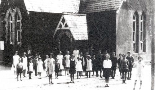 A late photo of Thorn Cross School